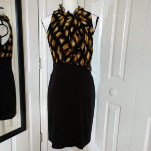 "BCBGMaxAzria ""Classic"" Sleeveless Silk Dress 10"